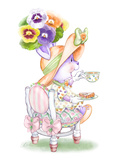 Pansy Parfait Tea Bunny Poster