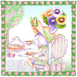 Pansy Parfait Tea Bunny Garden Party Prints