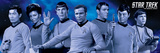 Star Trek Cast Blue Poster