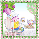Ramble Bramble Tea Bunny Garden Party Poster