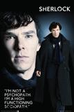 Sherlock - Sociopath Plakater