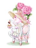 Rose Bonnet Tea Bunny Posters