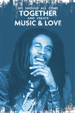 Bob Marley - Music & Love Posters