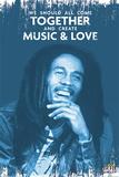 Bob Marley - Music & Love Kunstdrucke