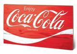 Coca-Cola - Logo Wood Sign Znak drewniany