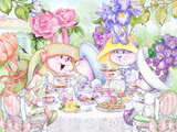 Tea Bunnies Afternoon Tea Affiches