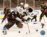 Corey Crawford & Chris Kunitz 2014 NHL Stadium Series Action Photo