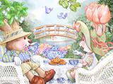 Tea Bunnies Tranquili-Tea by Silver Teaspoon Bridge Poster