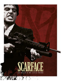 Scarface - Blood Red Poster Masterprint