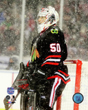 Chicago Blackhawks - Corey Crawford 2014 NHL Stadium Series Action Photo