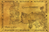Game Of Thrones - Antique Map Kunstdrucke