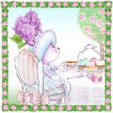 Lilac Ribbons Tea Bunny Garden Party Prints