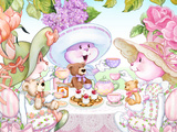 Tea Bunnies Teddy Bear Tea Prints