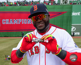Boston Red Sox - David Ortiz 2014 World Series Ring Ceremony Photo