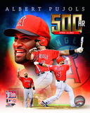 Los Angeles Angels - Albert Pujols 500th Career Home Run Portrait Plus Photo