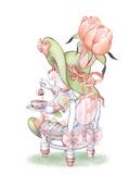 Tulip Petals Tea Bunny Prints
