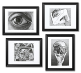 Set of 4 Framed Escher Prints Framed Set by M. C. Escher