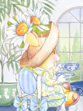 Daisy Breeze Tea Bunny at the Petite Palm Tea Room Prints