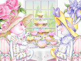Tea Bunnies Cupcake Tea Print