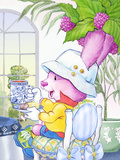Ramble Bramble Tea Bunny at the Petite Palm Tea Room Prints