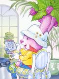 Ramble Bramble Tea Bunny at the Petite Palm Tea Room Posters