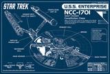 Star Trek Enterprise Blueprint Kunstdrucke