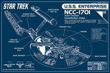 Star Trek Enterprise Blueprint Prints