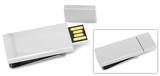 Silver 8GB USB Flash Drive Money Clip Novelty