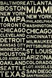Major League Baseball Cities Vintage Style Poster Posters