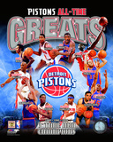 Detroit Pistons All Time Greats Composite Photo