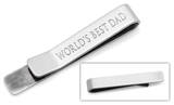 World's Best Dad Tie Bar Novelty