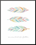 Birds of a Feather Poster Mounted Print by  Satchel & Sage