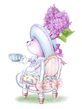 Lilac Ribbons Tea Bunny Poster
