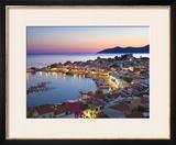 Harbour at Dusk, Pythagorion, Samos, Aegean Islands, Greece Framed Photographic Print by Stuart Black