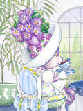 Candy Violet Tea Bunny at the Petite Palm Tea Room Posters