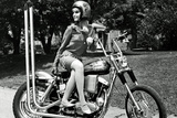 Motorcycle Girl 1960's Archival Poster Photo
