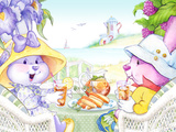 Tea Bunnies Sunny Bunny Bay Tea by Toast Point Lighthouse Prints