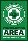 Medical Marijuana Consumption Area Posters