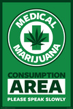 Medical Marijuana Consumption Area Posters