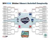 University of Connecticut Huskies 2014 NCAA Women's College Basketball National Champions Bracket Photo