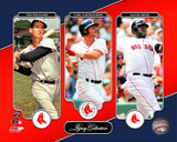 Boston Red Sox - Ted Williams, Carl Yastrzemski, David Ortiz Legacy Collection Photo