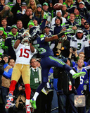 Seattle Seahawks - Richard Sherman pass deflection 2013 NFC Championship Game Photo