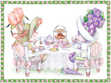 Tea Bunnies Tea for Two Print