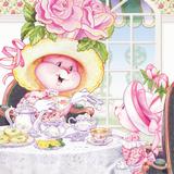 Tea Bunnies Tea Roses Poster