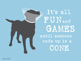 Fun And Games Print by  Dog is Good