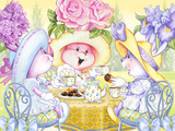 Tea Bunnies Golden Teatime Prints