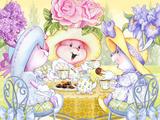 Tea Bunnies Golden Teatime Posters