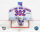 Henrik Lundqvist New York Rangers All-Time Wins Leader 302 Wins Overlay Photo