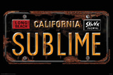 Sublime License Plate Posters