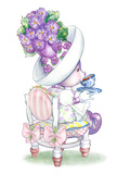 Candy Violet Tea Bunny Kunstdruck